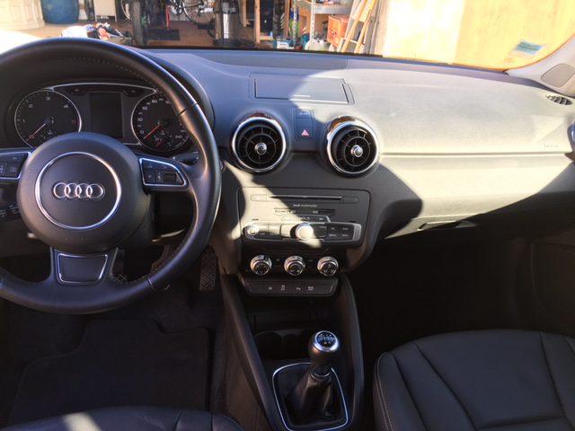 Vue intérieur d'une Audi lavée
