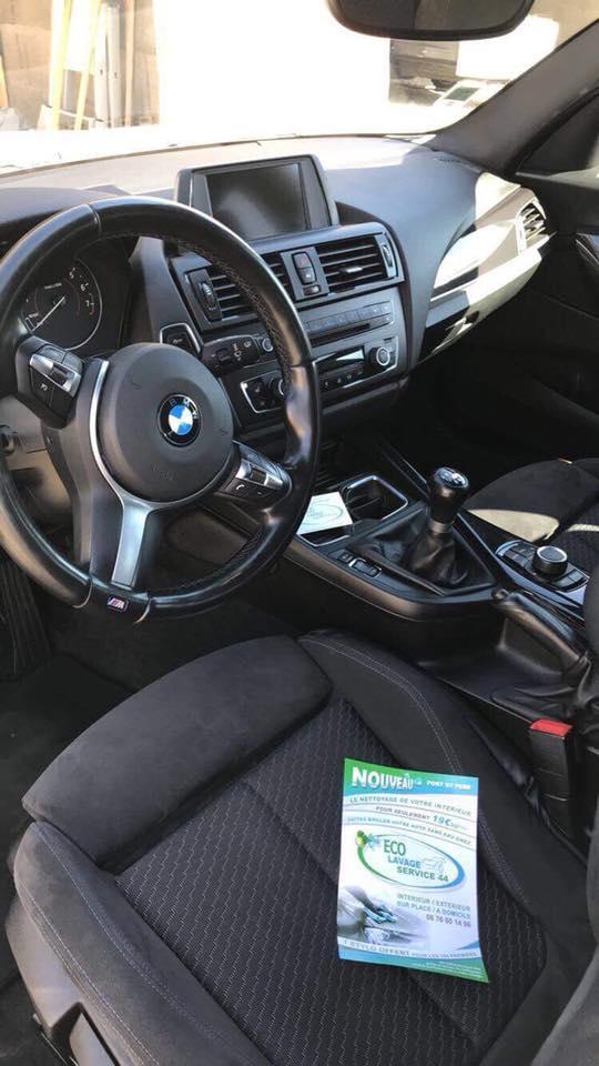 Vue intérieur d'une BMW lavée